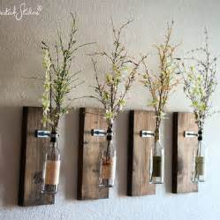 wine bottle wall vase set of four rustic modern food clothing shelter rustic modern decor