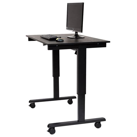 Modern Stand Up Desk Malibu 48 Quot Modern Stand Up Desk Black Black Eurway