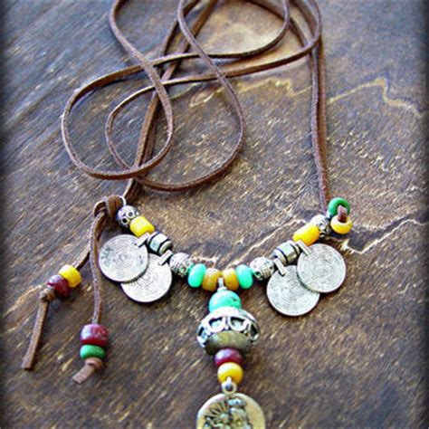 how to make hippie jewelry boho necklace hippie necklace from
