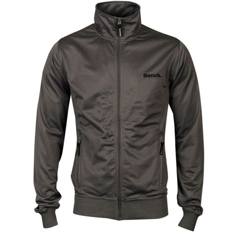 bench track jacket bench men s classic corp track jacket smoked pearl grey