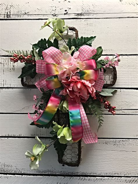 2017 open house blooming with spring decorations spring cross wreath spring d 233 cor decorative spring