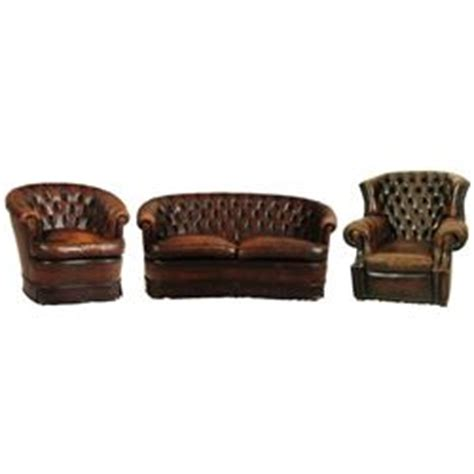 Leather Button Back Sofa Button Back Leather Sofa Matching Club Chairs