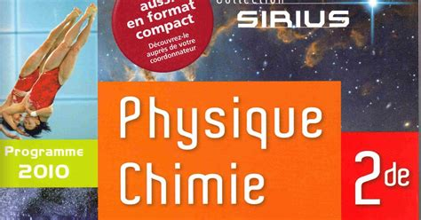 libro physique chimie 2de sirius correction exercices livre physique chimie seconde nathan collection sirius