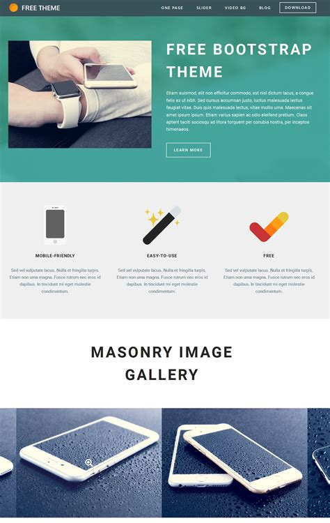 bootstrap themes free menu best 18 landing page bootstrap theme roundup