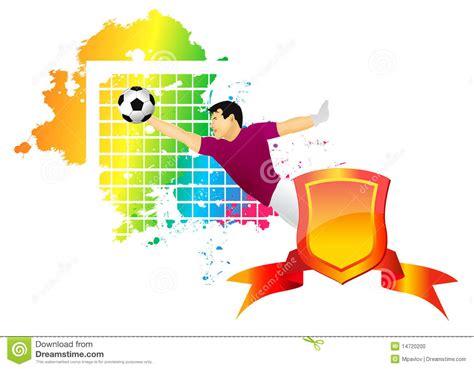 portiere gioco il portiere di gioco calcio fotografia stock