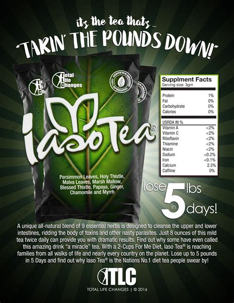 E Iaso Detox Tea by Tlc S Iaso 174 Tea Product One Sheet Total Changes To