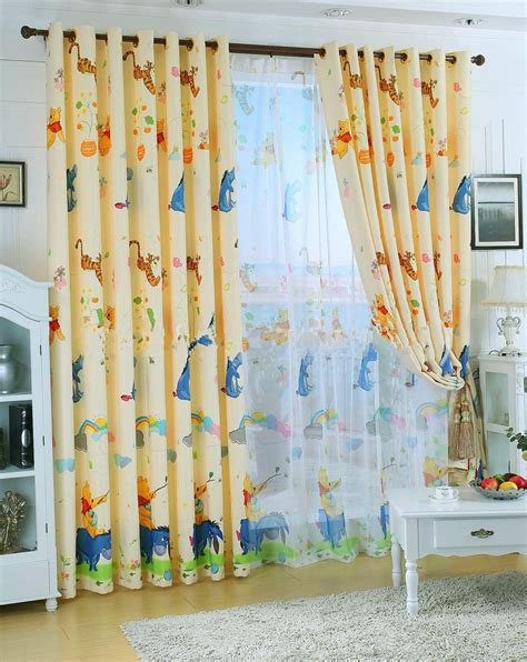 black out curtains for kids eco friendly curtains for kids pooh bear cartoon curtains