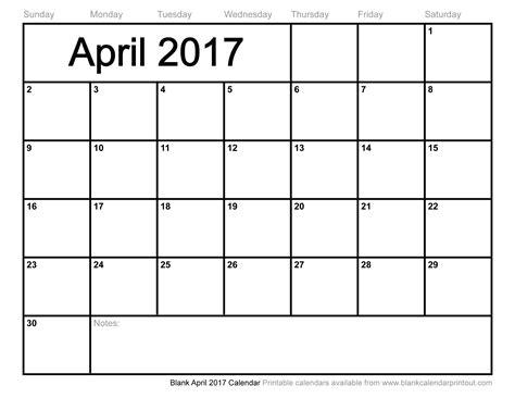 Blank April 2017 Calendar Weekly Calendar Template Blank Calendar Template 2017