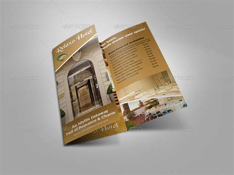 hotel and motel tri fold brochure template by owpictures