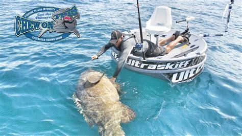 huge boat huge goliath grouper little boat fishing challenge here