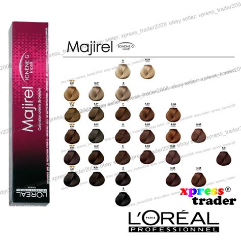 majirel haircolor treatment by l oreal professionnel shades guide l oreal majirel professionnel permanent colour hair dye 50ml ebay