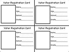 voter id card template voter registration clipart 21