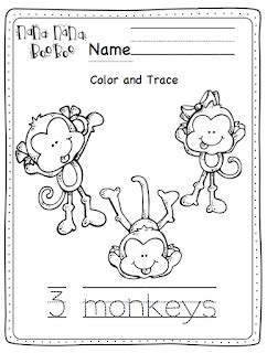 three little monkeys coloring page five little monkeys coloring pages