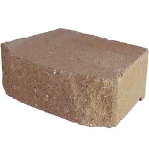 home depot concrete blocks pavestone 12 in x 4 in buff concrete wall block 81104
