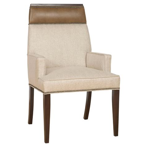 upholstered dining chairs with arms peony modern classic wood linen upholstered nailhead