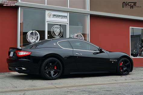 maserati and black maserati quattroporte niche gt 5 m133 wheels satin black