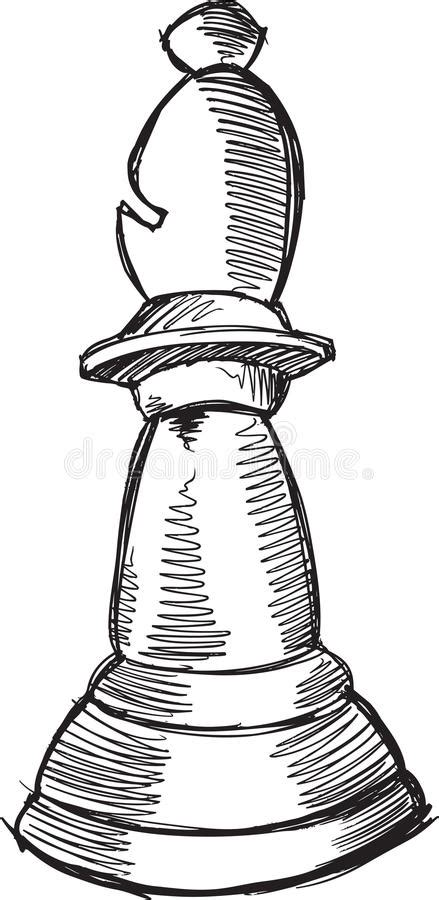 doodle chess doodle chess bishop vector stock illustration image of