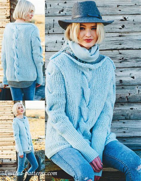 free knitting patterns womens jumpers sweater knitting pattern free