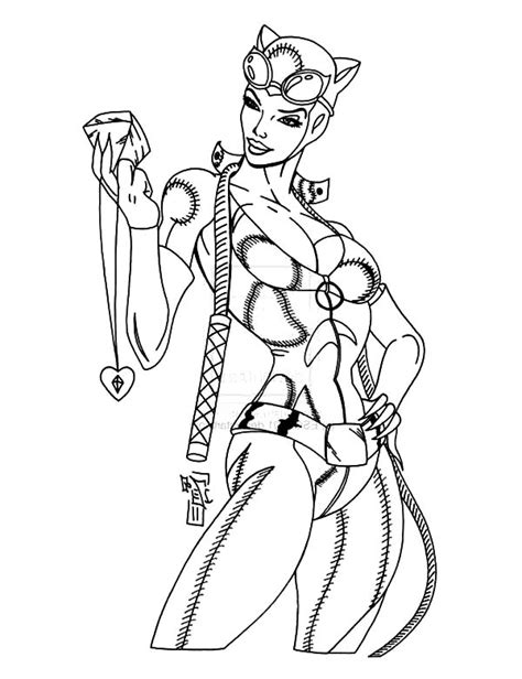 coloring page catwoman catwoman free colouring pages