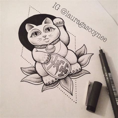 japanese cat tattoo 25 best ideas about lucky cat on yin