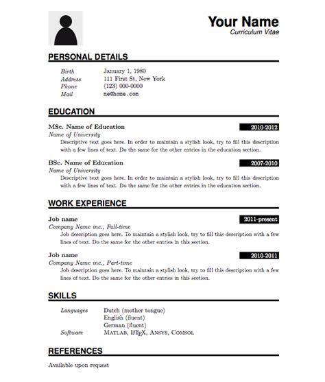 Pdf Resume Template by Resume Templates Pdf Free Gfyork