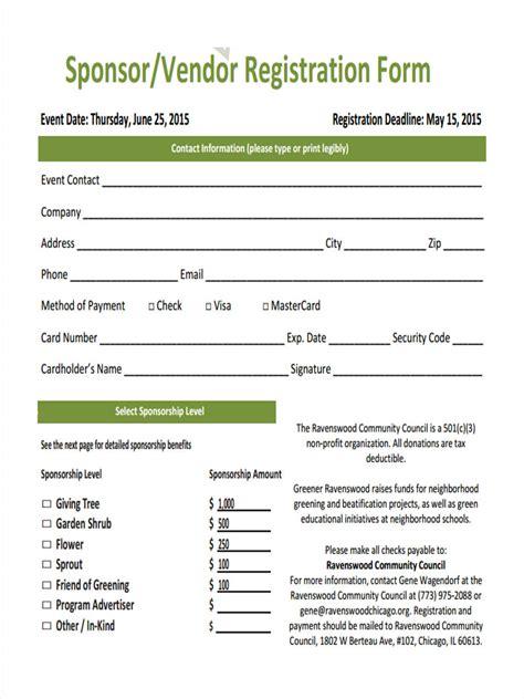 21 Hotel Registration Form Templates Vendor Registration Template