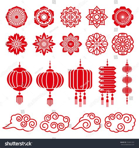 traditional design elements vector traditional chinese japanese decorative design vector