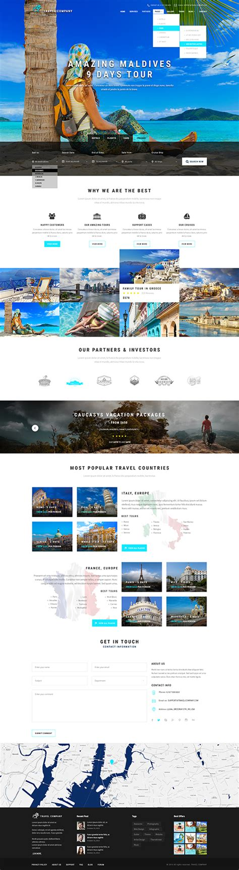 bootstrap theme free travel travel agency template tourism website template gridgum
