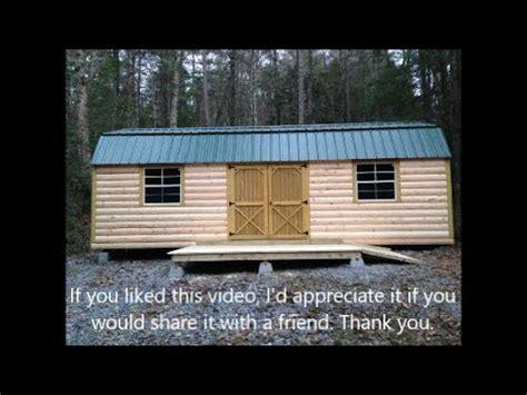 part  turn storage shed  log cabin mountain