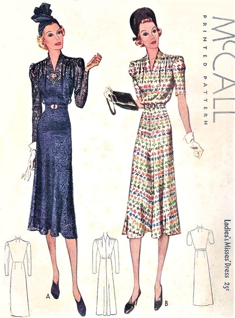art pattern dress 1930s beautiful art deco dress pattern mccall 9588