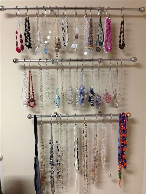 jewelry curtains homemade necklace holder my pinterest projects