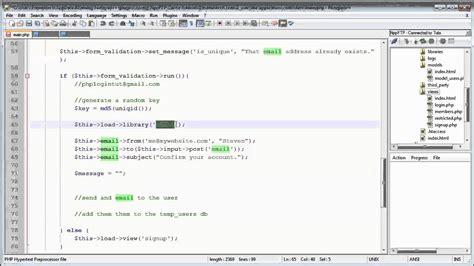 codeigniter tutorial user registration codeigniter tutorials registration login part 10 13