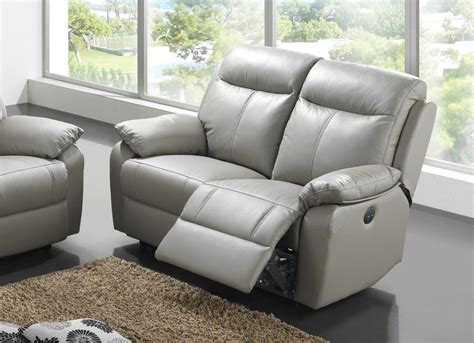 canape relaxation cuir canap 233 2 places cuir relax victory gris