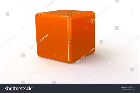 Shutter Inno Cube 2 Orange 3d vector model of an orange cube isolated on white the
