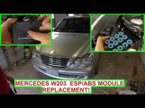 mercedes w203 esp abs module replacement abs light esp
