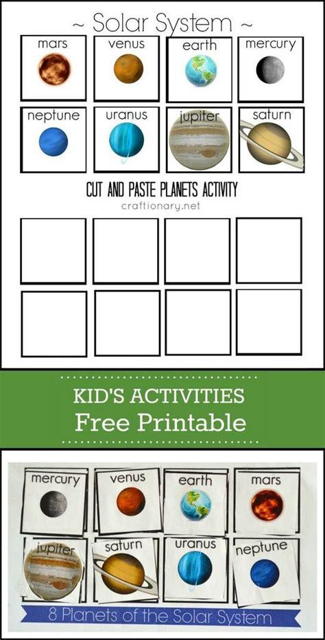 preschool solar system worksheets planets free printable solar system cut and paste solar system free printable and solar