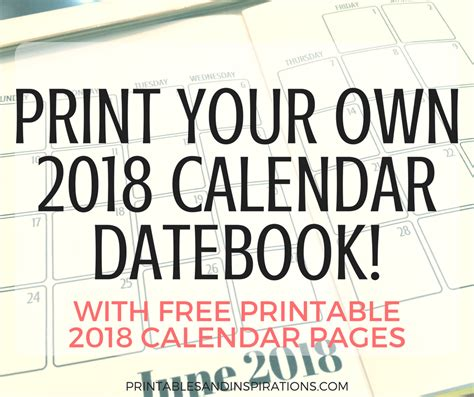 create your own printable planner free print your own calendar with photos arts arts