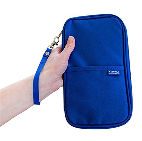 rfid travel passport wallet document organizer zipper