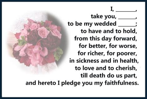 Wedding Vows In The Bible by Marriage Vows Christian Vows