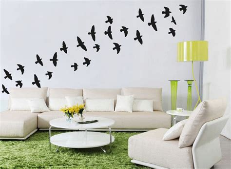 Bird Stickers For Walls flock of flying birds wall stickers bird wall decal