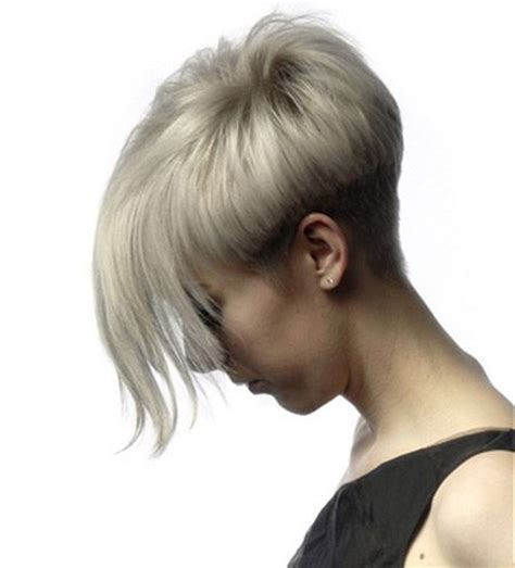 hairstyles cut short on one side and long on other side pixie cut with very long bangs this fashion hairstyles