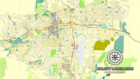 reno map reno nevada us printable vector city plan map editable adobe pdf