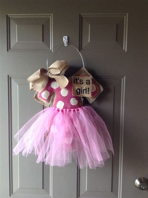 baby welcome home decoration it s a girl burlap door hanger