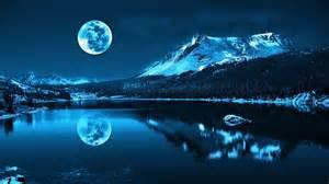 full moon reflection widescreen wallpaper wide
