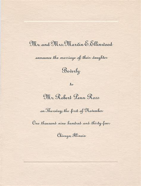 1930s wedding invitation wording 1930s a brief history of wedding invitations wedding