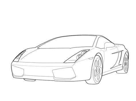 Lamborghini Outline Gallardo Outline By Teh0pr0digy On Deviantart