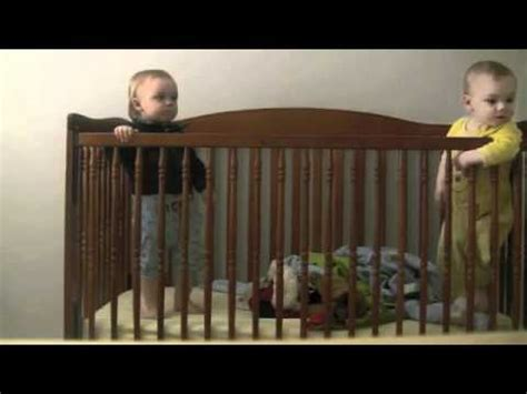 Twin Baby Escapes Crib Voiceover Youtube Baby Escapes From Crib