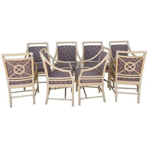 Mcguire Dining Chairs Set Of Eight Vintage Mcguire Designer Custom Dining Chairs For Sale At 1stdibs