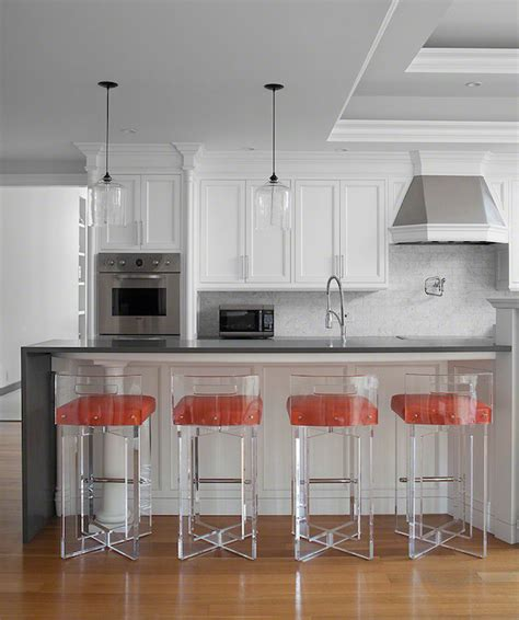 contemporary kitchen stools lucite counter stools contemporary kitchen morris