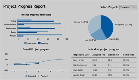 Training Placement Cell Rmcet Ambav Project Progress Report Format Progress Dashboard Template